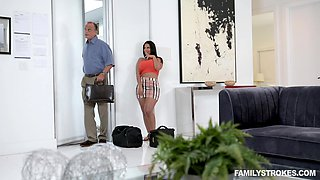 Cheating wife Rose Monroe fucked by a younger stud and gets cum