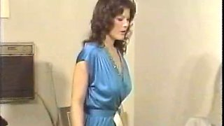 Red haired vintage secretary tickles her pussy right in the office