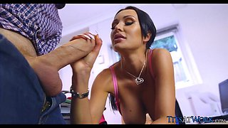 Euro Babe gets Lucky with Big Cock at Her Office