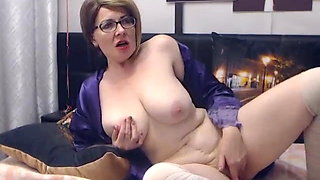 Mature with glasses play her self 2