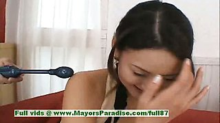 Risa Aian innocent chinese girl is speaking about sex