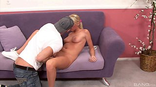 Skinny blonde Brynn Tyler rides a cock like there is no tomorrow