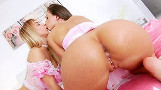 Lucky guy fucks both these teens in the ass