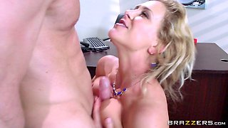 Aggressive firm manager got a blowjob before he laid her secretary within the office