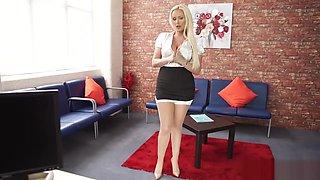 LUCY ZARA WANK IN THE OFFICE