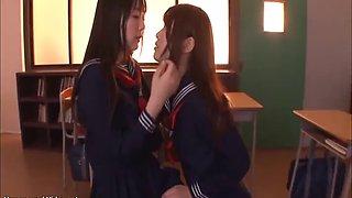 Jav 18yo lesbians schoolgirls have sex