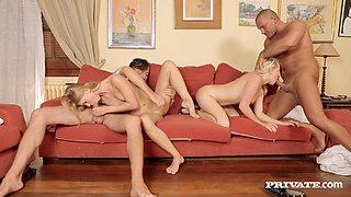 Swinger Babes Get Drilled Hard In This Nasty Foursome