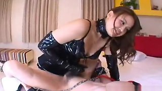 Chubby japanese mistress fucking the slave