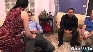 Sexy Brunette Housewife Tacori Blu Fucked Anally in Front of Husband