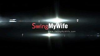 European MILF Becomes A Real Swinger Slut