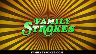 FamilyStrokes - Sis accidentally Fucks Stepbro