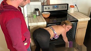 Stepmom in the kitchen takes stepson&#039_s dick after he takes the wrong pills - Erin Electra