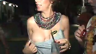 Impossibly drunk dirty wenches demonstrate their titties outdoors