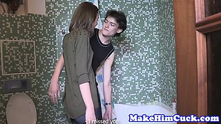 Amateur gf cuckolding cheating bf