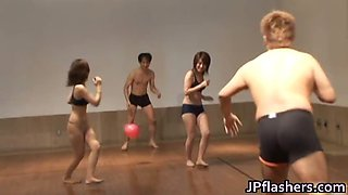 Super hot Japanese girls flashing