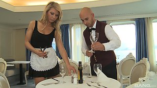 Kristi Lust is a hot blonde maid attacked for a nasty fuck