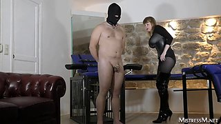 female domination dominatrix mistress m Paris loves to whip men