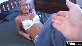 blonde hottie makes a dick disappear video