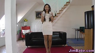 teen in stockings rubs extreme