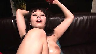 Piled up, Kyouko Maki, moans during harsh bondage sex