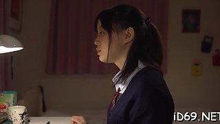 Asian schoolgirl gets used by a horny lover
