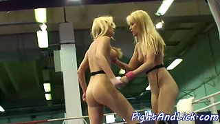 Bigtit lesbians wrestling and kissing nicely