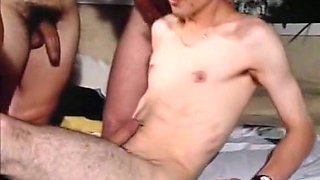 Sweet and slutty blonde Italian hottie with a bunch of men