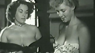 Two busty milfs on the vintage amateur video topless