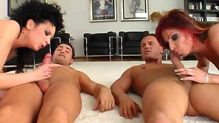 Sperm Swap Horny chicas in outrageous group sex scene