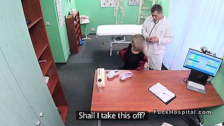 Fake doctor banging hot blonde patient