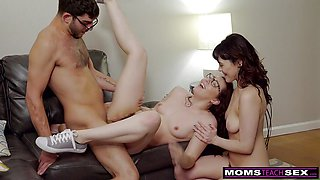 Sexy StepSiblings Practice Fucking With StepMom