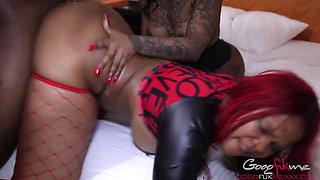 GoGo Fukme & Gemini Lovell share a big black cock