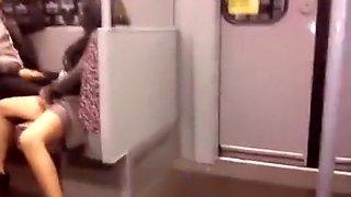 Drunk girl show in metro