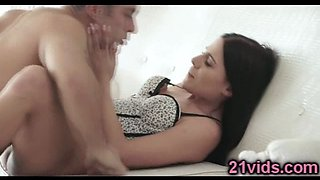 sweet brunette passion fuck big cock