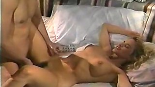 Sassy and fine classic blondie eats cock on the bed