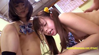 Ayu and Mimi Jav Teens Fucked In The Gym Extremely Cute Petite Schoolgirls Shaved Pussies And Tiny Asses