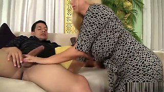 Foxy MILF Karen Fisher eats his meat and vibrates her clit while fucking