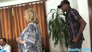 Cuckolding milf fucked interracially