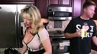 Rough fuck with MOM in kitchen!!!