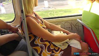 Cutie let me spy her lustful bus upskirt
