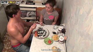 She gives nice head on POV home video before the dinner
