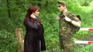 Cougar fuck with young soldier