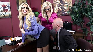 Blonde Office Girls Get Nailed By Their Horny Boss