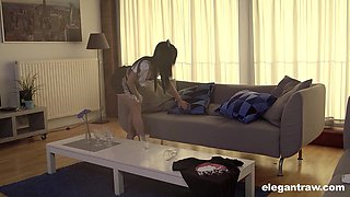 French maid in uniform throbbed hardcore doggystyle