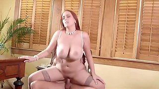 hot busty secretary getting fucked in the office by her boss