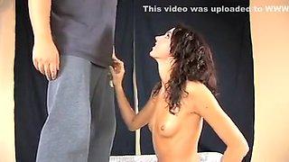 Sexe oral avec une tchèque très mignonne