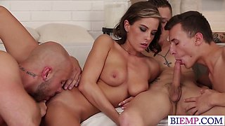 Dirty Bi Orgy In A Special Spa