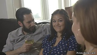 Husband fucks step sisters in bdsm