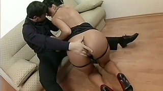 The boss turns his steamy hot secretary into a little fuck slave