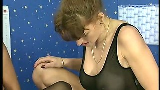 German Anastasia Fucked In Stockings guzzles Piss